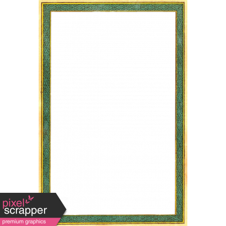 Quilted With Love - Vintage Green Paper Frame