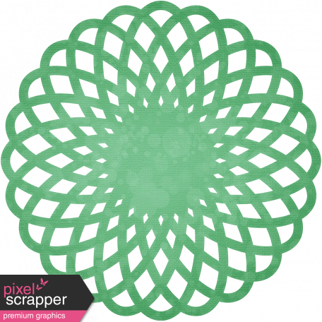 Quilted With Love - Vintage Green Doily
