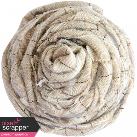 Cream Rolled Fabric Flower