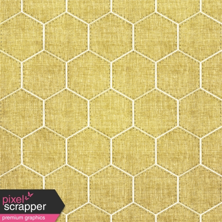 Quilted Mustard Hexagon Paper
