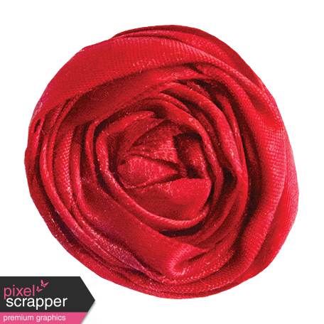 Red Ribbon Rose Graphic By Janet Scott Pixel Scrapper Digital
