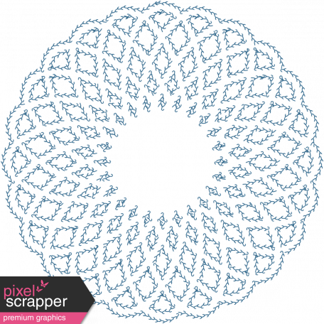 Quilted With Love - Modern - Blue Doily Stitching
