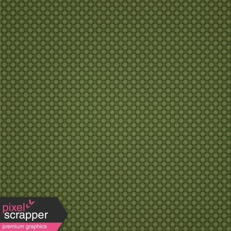 Olive Retro Circle Pattern Paper