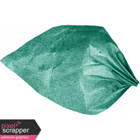 The Lucky One - Teal Paper Leaf