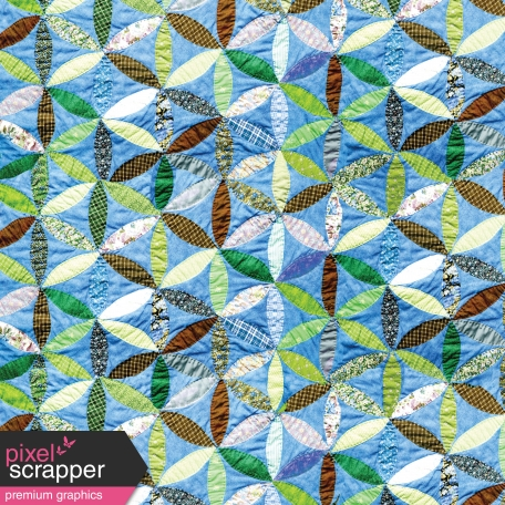 Quilted With Love - Modern Blue Joseph Coat Quilt Paper