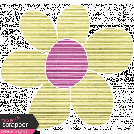 Earth Day Mini - Lime Cardboard Flower