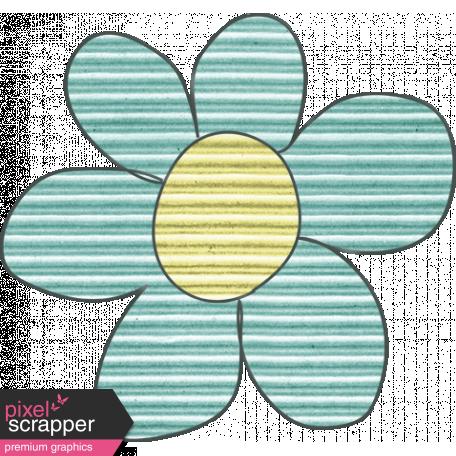 Earth Day Mini - Teal Cardboard Flower