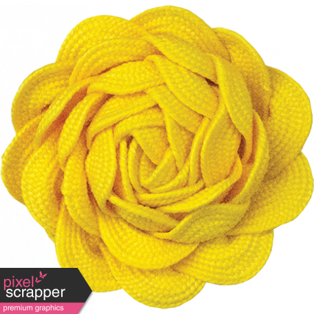 Sunshine and Lemons - Yellow Ric Rac Flower
