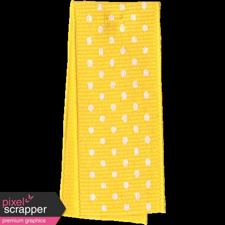 One Stop Bunting Shop - Yellow Polka Dot Folded Ribbon
