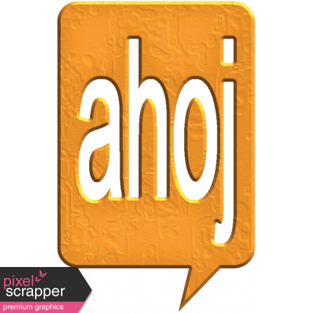 Hello Speech Bubble - Ahoj 2
