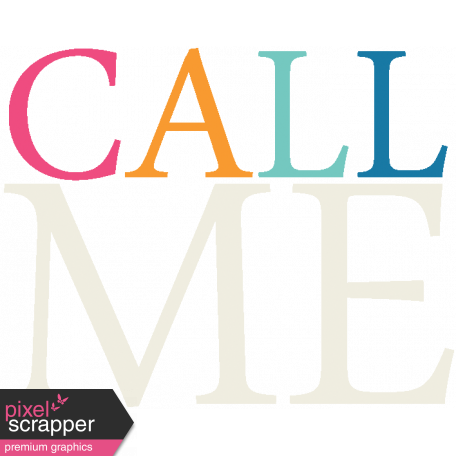 Hello - Call Me Word Art