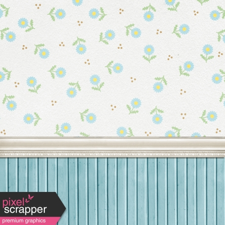 Oh Baby Baby Blue Room 3 Paper Graphic By Janet Scott Pixel