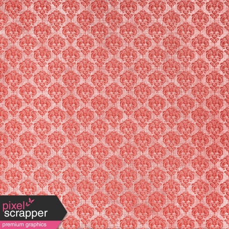 Oh Baby, Baby - Red Damask Fabric Paper