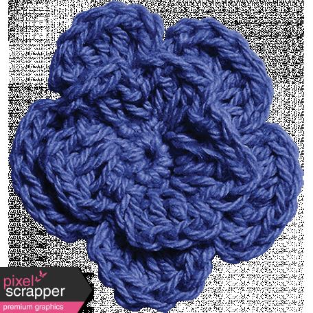 Independence - Blue Crochet Flower