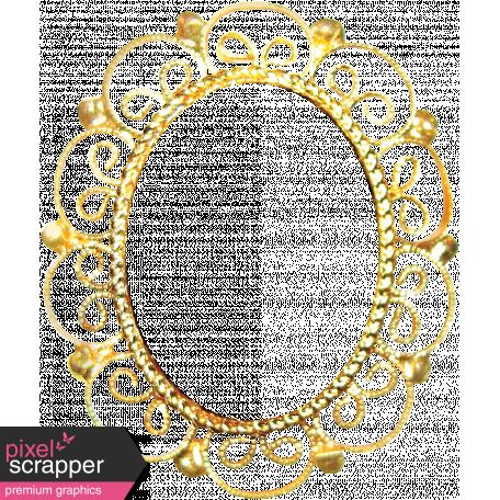 Many Thanks Gold Ornate Frame Graphic By Janet Scott