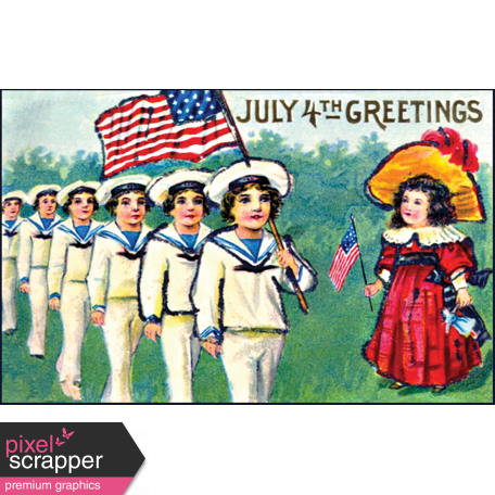Independence - July 4th Greetings Postcard