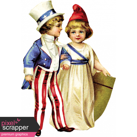 Independence - Vintage Patriotic Kids