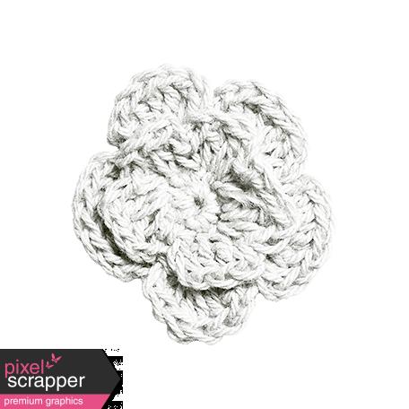 Independence - White Crochet Flower
