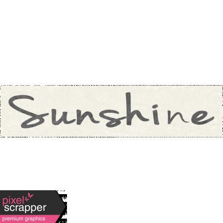 Sunshine & Lemons Mini - Sunshine Word Art