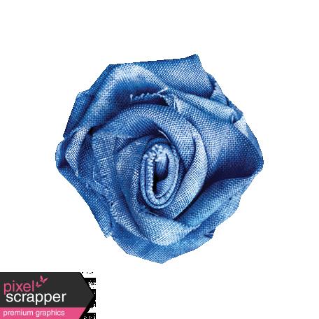 Pond Life - Blue Fabric Flower 1