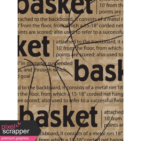 Basketball Card 3x4 Basket