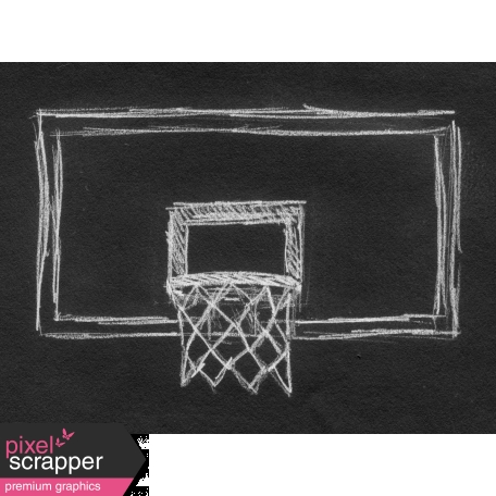 Basketball Card 4x3 Chalk Backboard