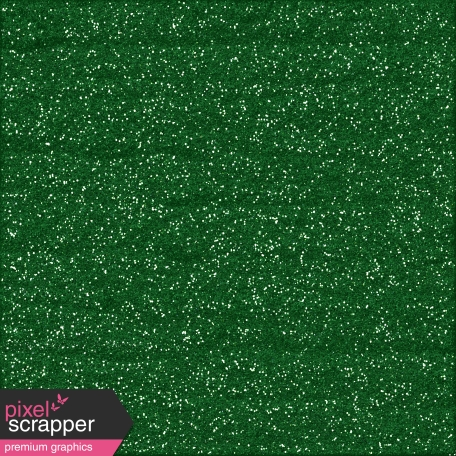 Color Basics Paper Glitter Dark Green