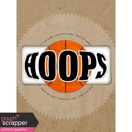 Basketball Card 3x4 Hoops