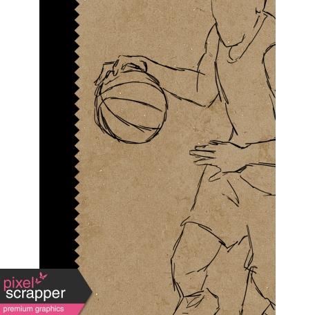 Basketball Card 3x4 Player