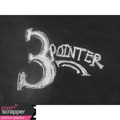 Basketball Card 4x3 Chalk 3 Pointer