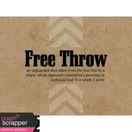 Basketball Card 4x3 Free Throw