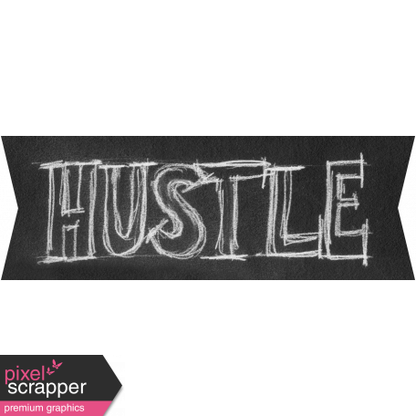 Sports Word Art Banner Hustle