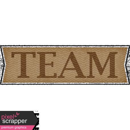 Sports Word Art Banner Team