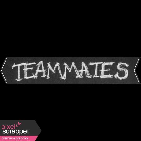 Sports Word Art Banner Teammates Left