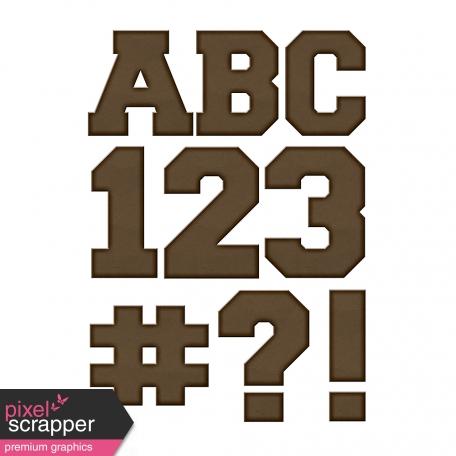 Color Basics Cardboard Alpha Brown