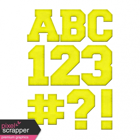 Color Basics Cardboard Alpha Yellow