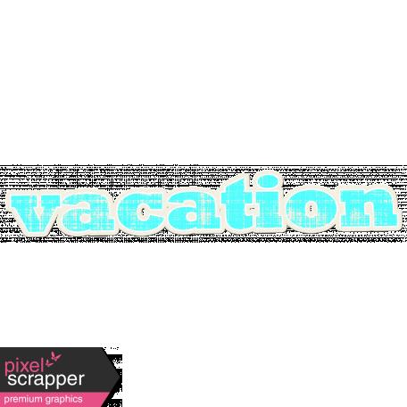 Tropics Word Art Sticker Vacation