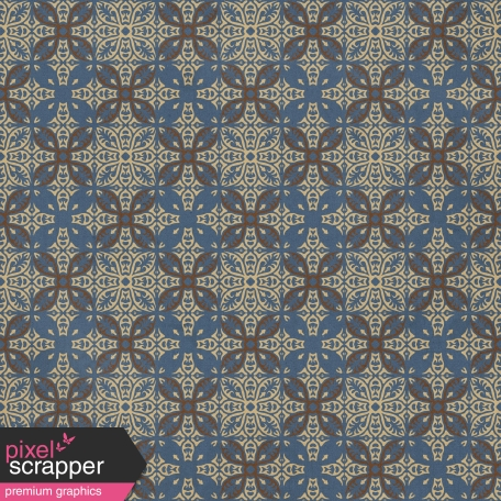 Dad Paper - Ornament Blue Brown