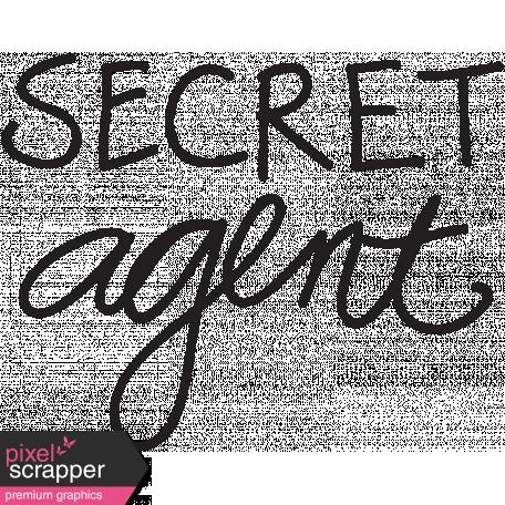Dad Word Art Secret Agent