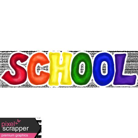School Word Art School