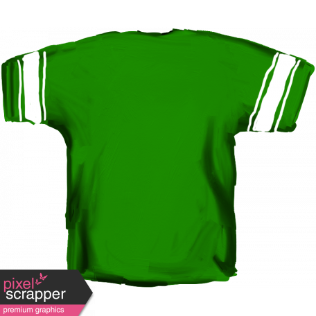 Football Jersey Back Green