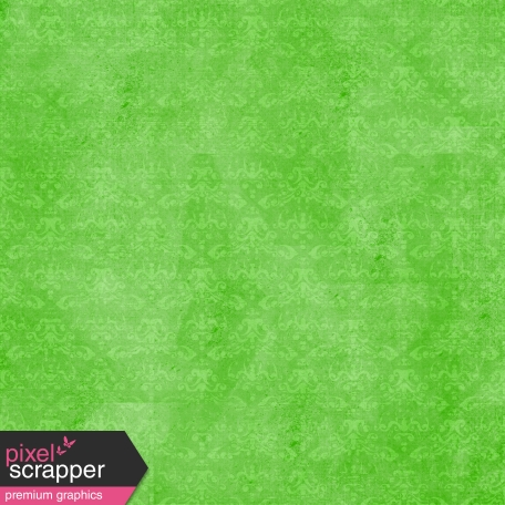 Spook Paper Damask 001 Distressed Green