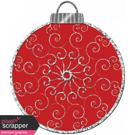 Touch of Sparkle Christmas Ornament Red 02