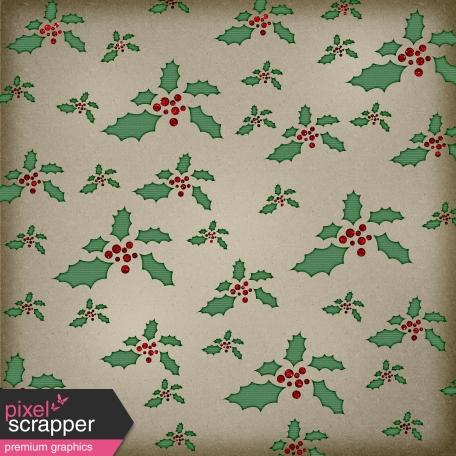 Winter Wonderland Mini - Paper Holly Green