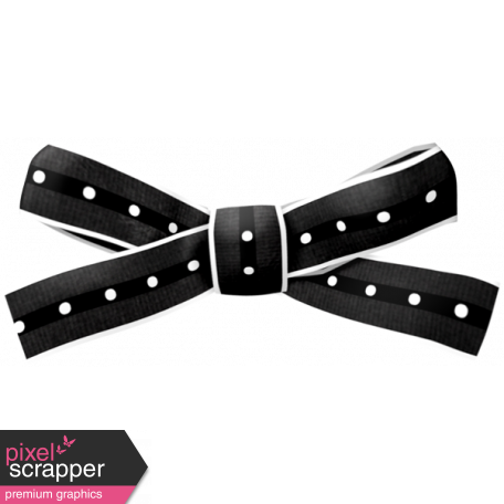 Soccer Ribbon Bow - Black