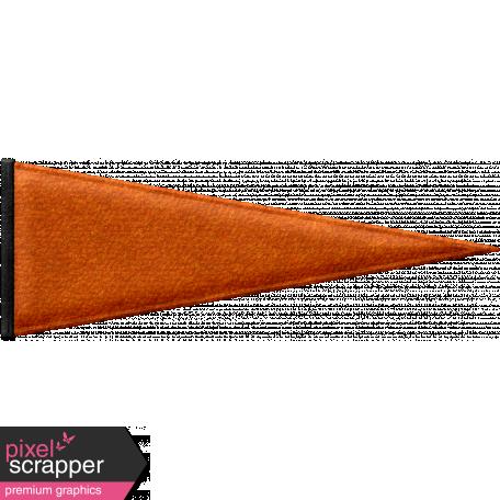 Baseball Pennant - Orange