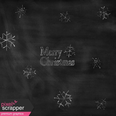 Touch of Sparkle Christmas Paper Merry Christmas Chalkboard
