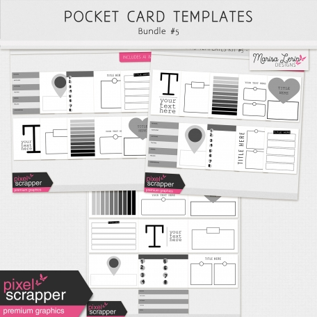 Pocket Card Templates Bundle #5