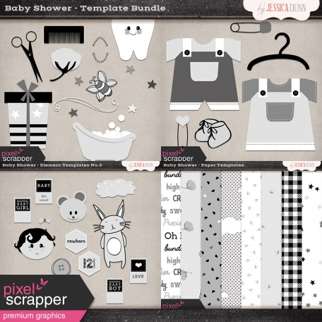 Baby Shower Templates Bundle