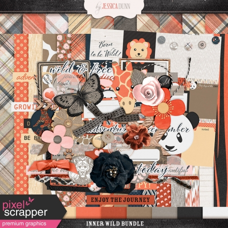 digital scrapbooking collection of various animal and wild elements